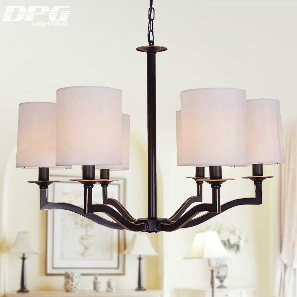 Chandelier Lights with black Iron LED E14 Ceiling White ...