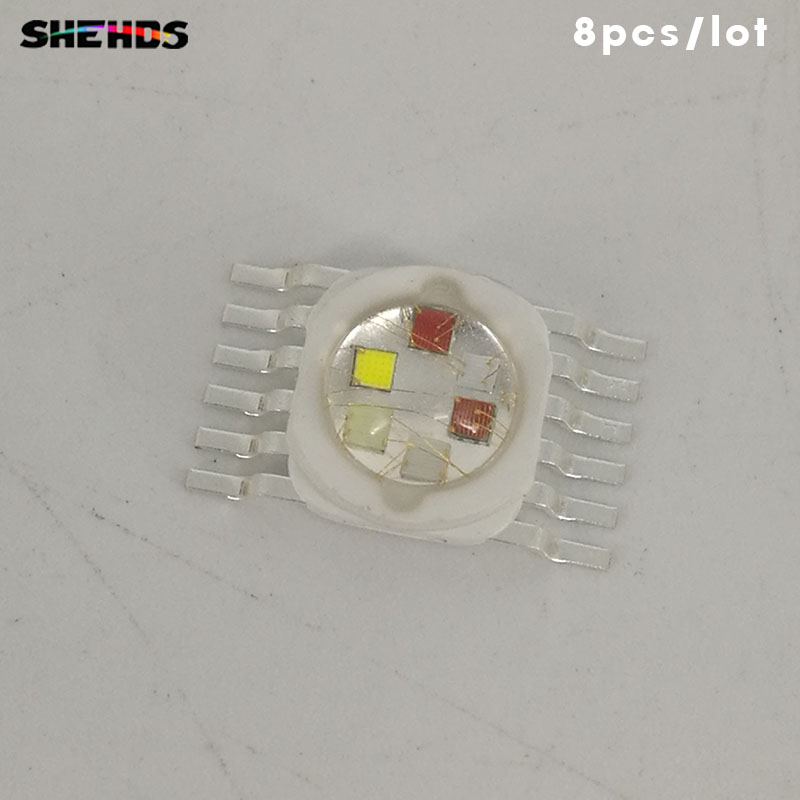 8pcs/lot LED RGBWA+UV 6in1 18W For LED RGBWA+UV Lighting  LED Chips Red/green/bule/white/abmer/Ultraviolet Fast Shipping SHEHDS