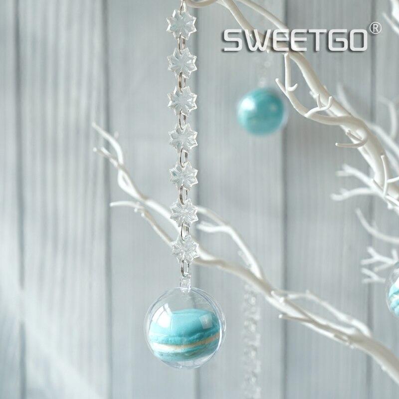 Dekoracje ślubne drzewa biały żywica symulowane drzewo z macrons wisiorki dla candy bar/sklep okno wyświetlacz, które chcą drzewo w Ozdoby do dekorowania tortu od Dom i ogród na  Grupa 2