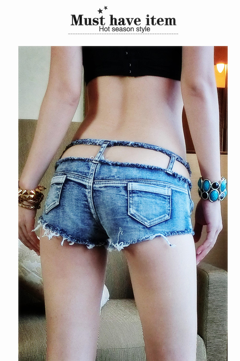 Hollow Out Micro MINI Jeans Hot Shorts Ripped Low Rise Waist Booty Short High Cut Booty Short Shorts Club Dance Wear FX35 hollow out micro mini jeans hot shorts ripped low rise waist booty short high cut booty short shorts club dance wear fx35