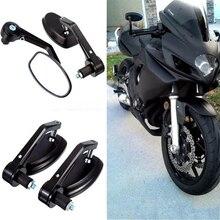 """7/8 """"22 milímetros Universal Espelhos Retrovisores Da Motocicleta Handle Bar End Para motocross ATV Off road sujeira pit bike espelho retrovisor de moto"""