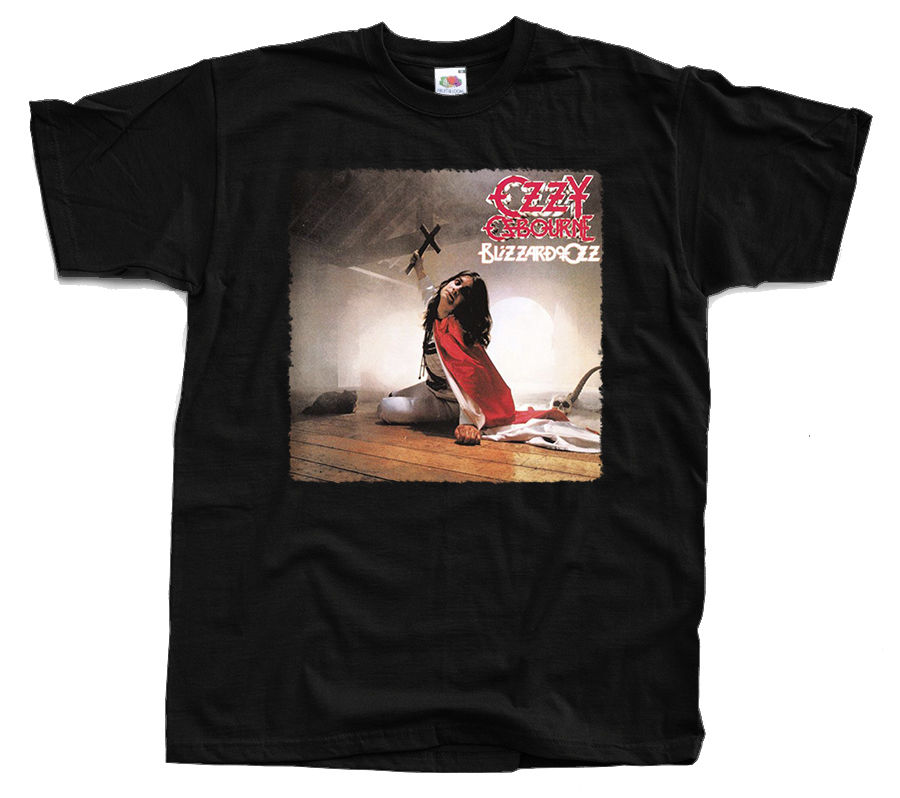 OZZY OZBOURNE Blizzard of Ozz T-Shirt (Black) S-3XL New Brand-Clothing T Shirts Top Tee Text Breathable Plus Size Harajuku