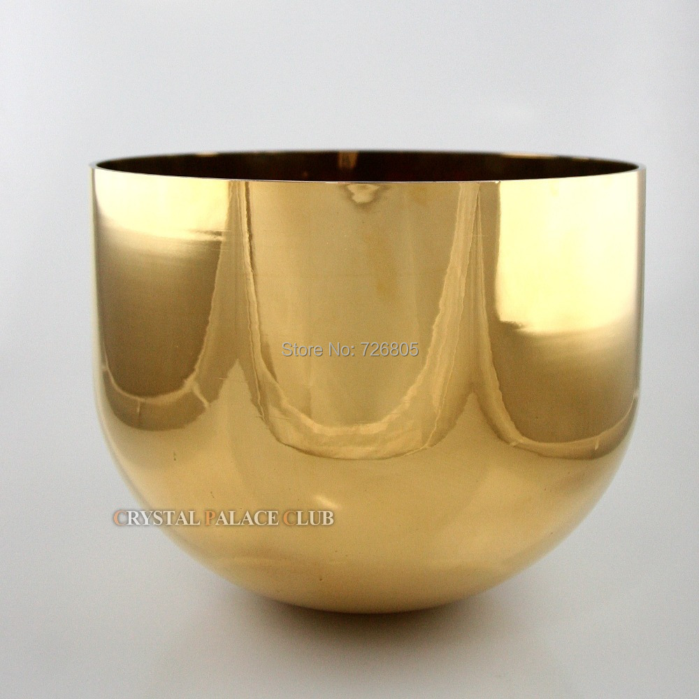 24k gold 3th octave deep tone Quartz Crystal Singing Bowl 10 chakras Yoga master for energy