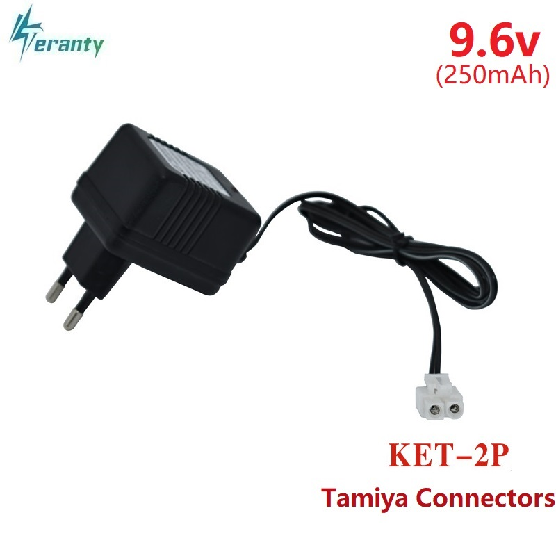 9.6V 250mAh Tamiya Connectors Battery Charger Units 9.6v NiCd NiMH Battery Pack Charger For RC Toy Car Tank Boat 9.6v Charger