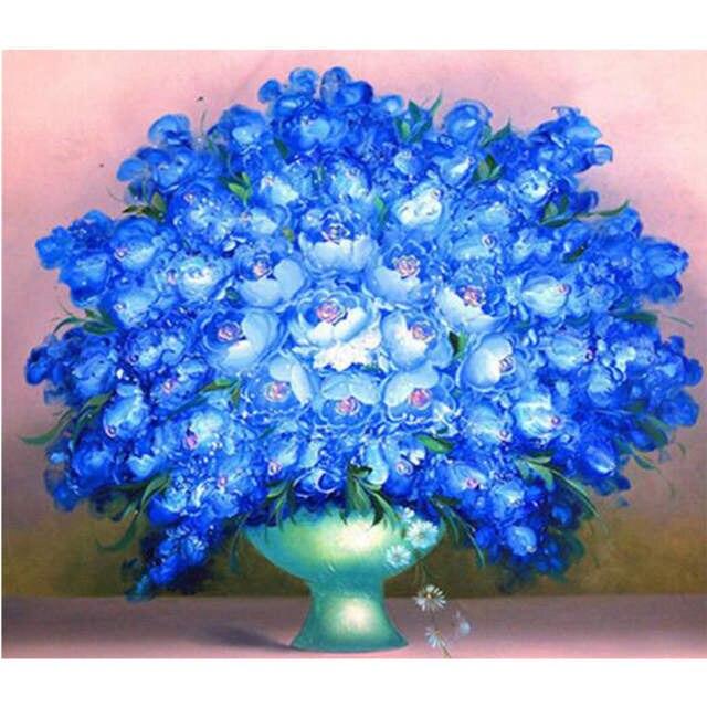 Fiori Viola.Fiori Viola In Pot Ricamo Diamante 5d Diy Stile Europeo Punto