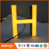Outdoor Or Indoor Epoxy Resin Signs Led Illuminated Channel Letter