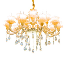French Empire Crystal Chandelier Lighting Hanging Decoration Ceiling Mount for Bathroom