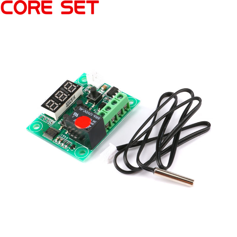 DC 12V -<font><b>50</b></font>~<font><b>110C</b></font> Mini Digital Thermostat Temperature Controller Switch Module DIY Electronic Kit For Incubator Waterproof NTC image