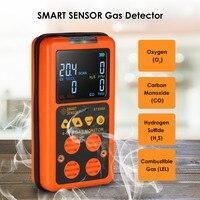 4 в 1 детектор газа H2S CO монитор промышленного цифровой Ручной токсичных угарного газа Угарный газ сероводород тестер