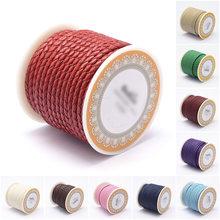 1 рулон 3/4/5/6 мм плетеные кожаные шнуры нитки сделай сам ювелирные