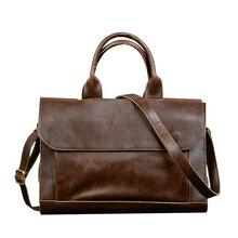 Винтажный портфель ABDB ETONWEAG, мужские сумки мессенджеры, коричневый Роскошный деловой портфель, мужская сумка для ноутбука
