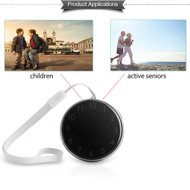 Mini Child GPS Tracker Pocket Watch A12 Adults Older Pocket Locator Clock Tracking Device SOS Alarm Voice Monitor 40MAY1506