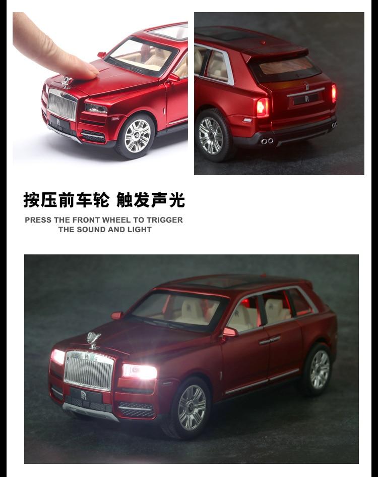 Rolls Royces Cullinan SUV Model Car with Metal Wheels, Sound & Lights 14