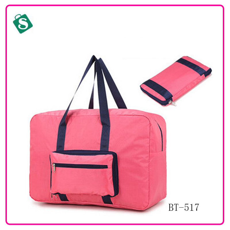 2016 fashion foldable men travel font b bags b font solid color outside tote font b