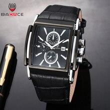 BADACE модные мужские часы с кожаным ремешком кварцевые мужские роскошные часы спортивные наручные часы Relogio Masculino 2098
