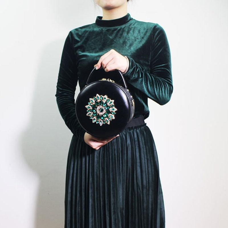BENVICHED женская сумка из натуральной кожи крупного рогатого скота 2019 Новая Бриллиантовая модная сумка на плечо ретро мини сумка c389 - 6