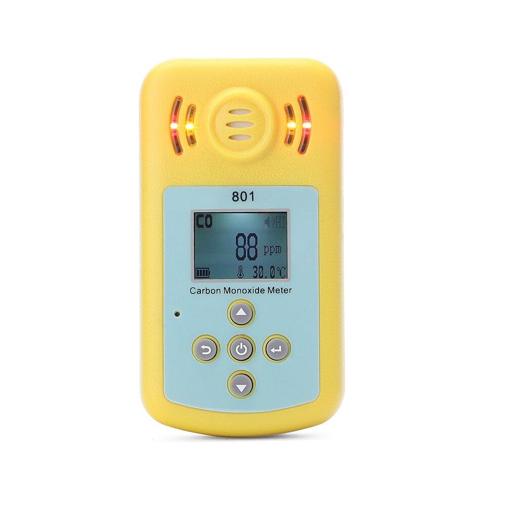 CO Carbon Monoxide Detector Alarm Sensor Smart Digital Sound and Light Vibration Warning LCD Display Gas Detector Sensor
