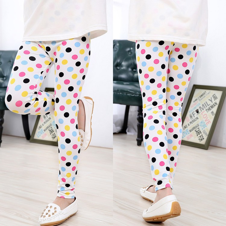 2017 Spring Summer Kids Legging Retro Fashion Children Floral Pants Girls Leggings Casual Girl Pants Kids Baby Trousers