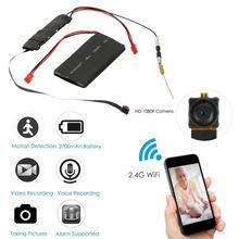 DIY камера Мини Wifi камера Full HD 1080P видеокамера P2P Обнаружение движения видео безопасность с 2,4G RF пульт дистанционного управления DIY камера