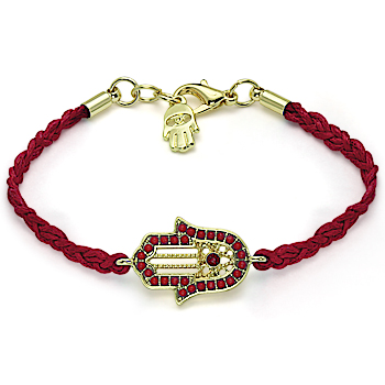 Fashion handmade accessories fatima hamsa bracelet red string knitted bracelet b01