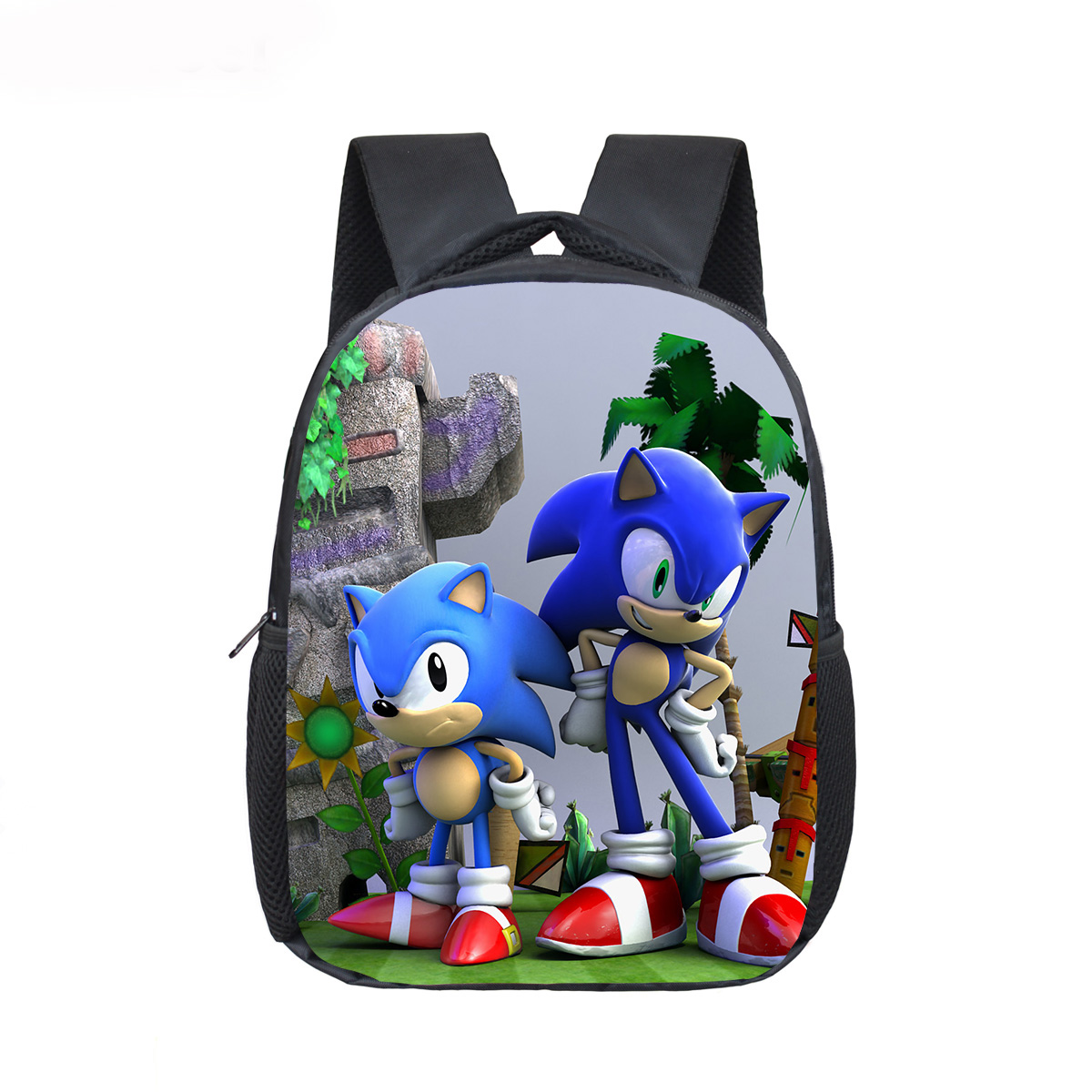 12 Inch Mario Bros Sonic Boom Hedgehogs Kindergarten School Bags Bookbags Children Baby Toddler Bag Kids Backpack Gift