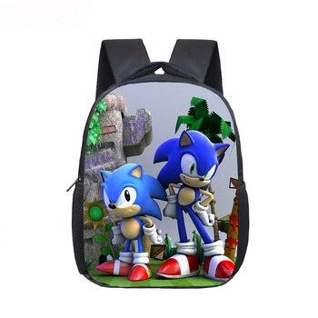 12 Inch Mario Bros Sonic Boom Hedgehogs Kindergarten School Bags Bookbags Children Baby Toddler Bag Kids Backpack Gift