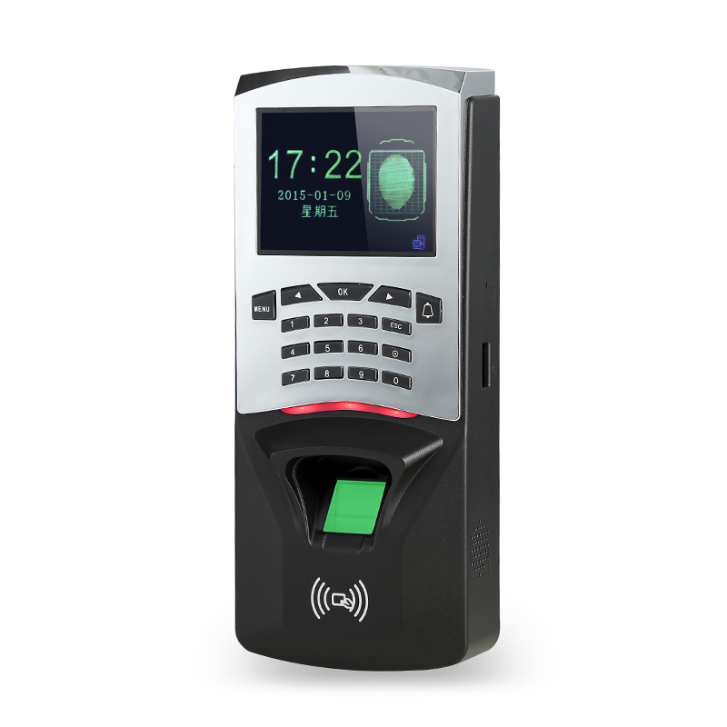 TCP/IP Password ID Card Fingerprint Access Control Terminal With Time Clock Support Spanish Portuguese Language door access control terminal zk f8 fingerprint access control with 125k rfid card tcp ip fingerprint time clock