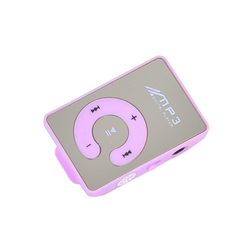 TF Card MP3 Player Portable Digital Clip Waterproof Music C Button Mirror Sports Mini