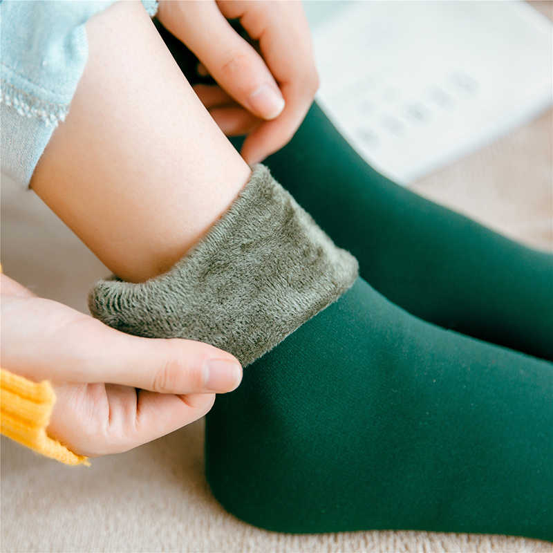 0f0b0402794 Winter Wamer Women Thicken Thermal Wool Cashmere Snow Socks Seamless Velvet  Boots Floor maternity socks pregnant