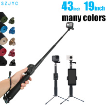 43inch Aluminum diving Monopod for GoPro Hero 6 5 7 4 Black Silver Session Sjcam Sj7 Yi 4K Action Camera Selfie Stick for Go Pro цена в Москве и Питере