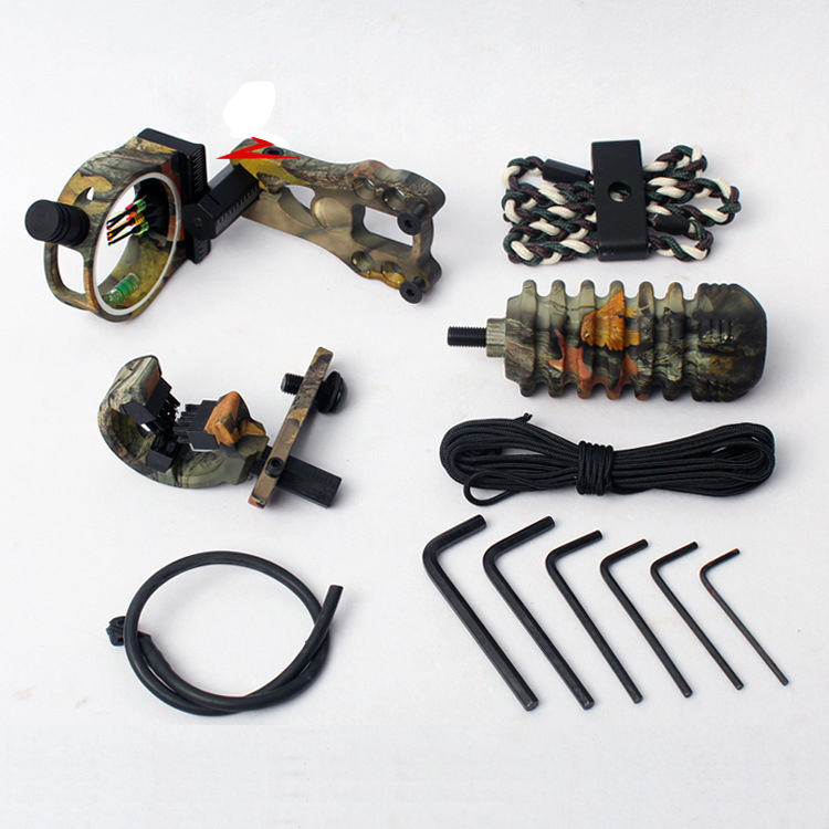 Outdoor Hunting Archery Combo Bow Sight Kits Arrow Rest Stabilizer for Hunting Recurve Compound Bow Accessories