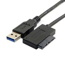 USB 3.0 для 7+6 13pin Супертонком SATA адаптер кабель для ноутбука CD DVD оптический привод компакт-дисков