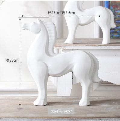 Үйге арналған керамикалық жылқы Үйге - Үйдің декоры - фото 4