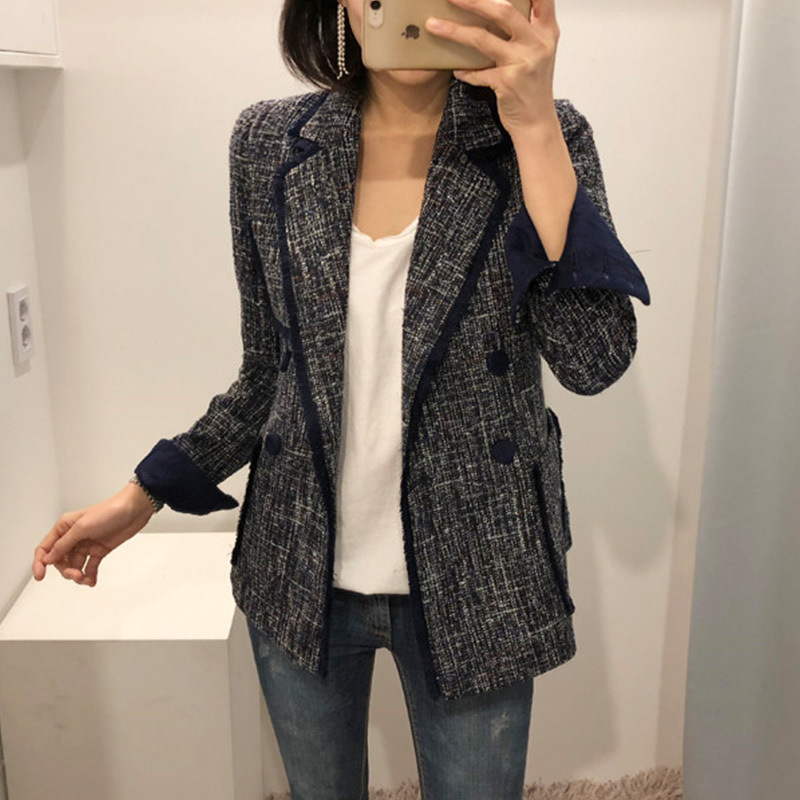 Small Suit Jacket Korean Version Of Spring 2019 New Suit Casual British Xiaoxiang Style Tassel Suit Women Jackets And Coats