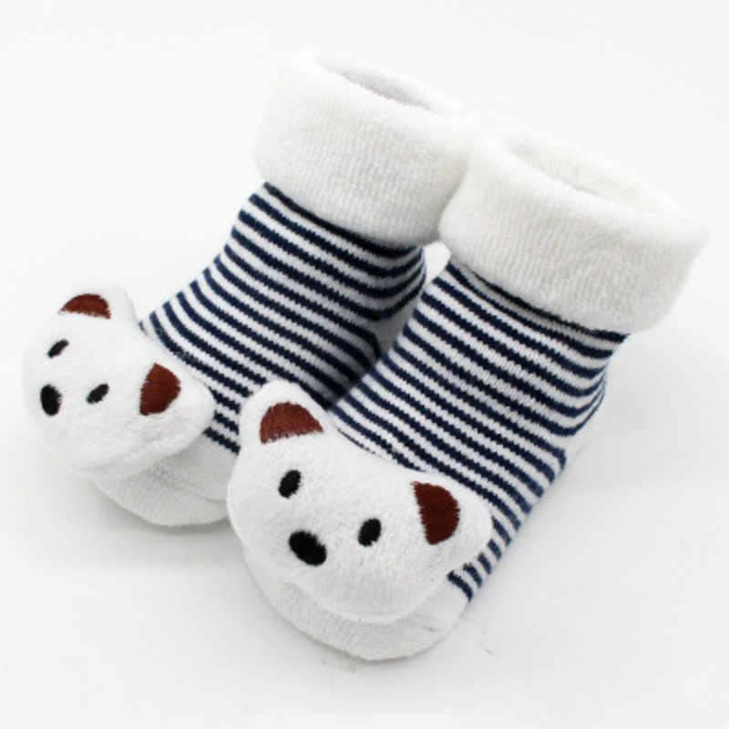 2019 bebé Animal oso calcetines piso antideslizante botas calcetines otoño invierno Bebé niñas niños suave cálido lindo algodón de dibujos animados calcetines recién nacido