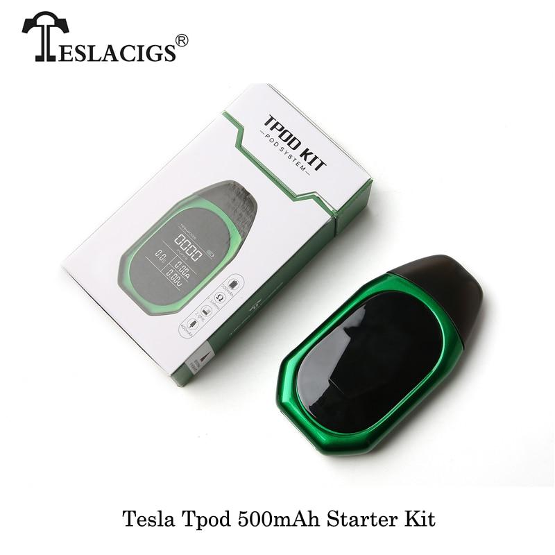 E-Sigaretta Teslacigs Tesla TPOD Starter Kit 500 mah Batteria 2 ml Cartuccia Elettronica Sigarette Vape VS Justfog Minfit vaporizzatore