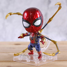 Endgame Ferro Spiderman 1037 Aranha De Ferro Vingadores Nendoroid PVC Action Figure Collectible Modelo Toy(China)