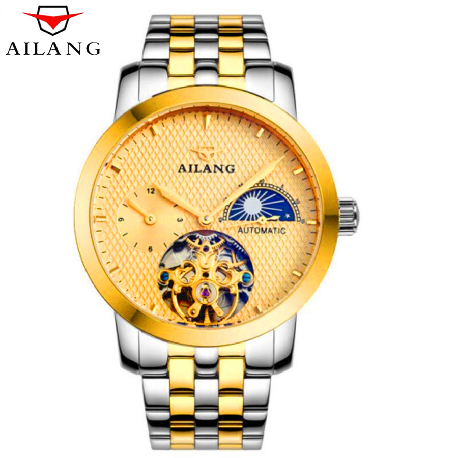 AILANG Classic Fashion Design Luxury Skeleton Tourbillon Mechanical Watch Military Waterproof Sports Mens Automatic Watches New пуховик canada goose 3207l 646