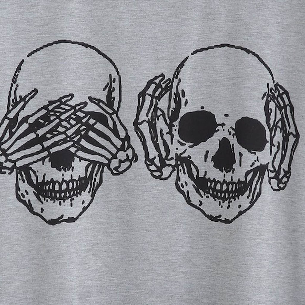 Unisex Skull T-Shirts 2 Colors 5