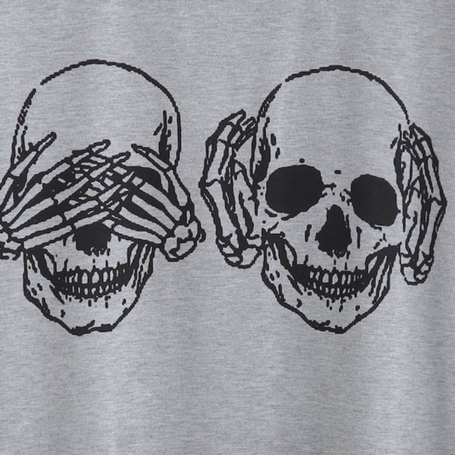 Unisex Skull T-Shirts 2 Colors  5