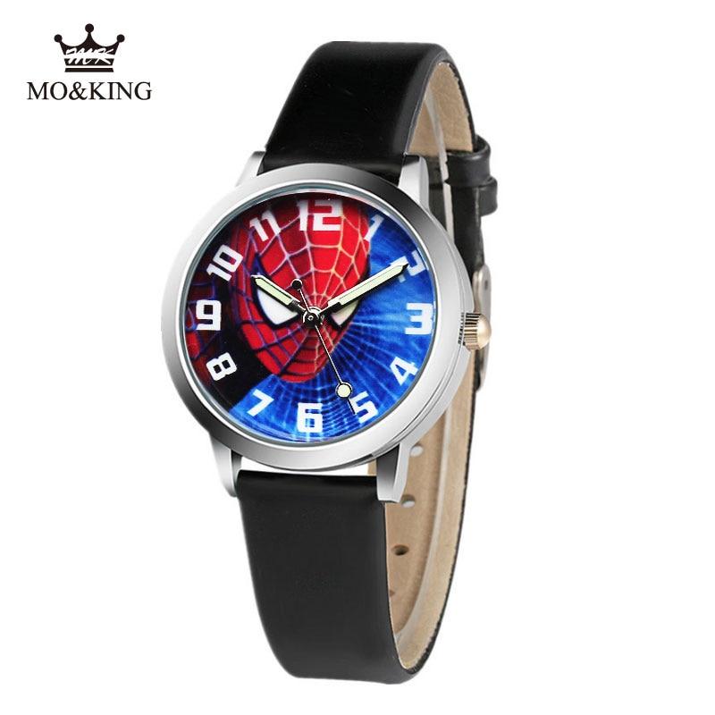 Hot Sale Spiderman Watch Kid Cute Cartoon Waterproof Watch Kids Watches Rubber Quartz Watch Gift Children Reloj Montre Relogio