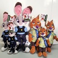 Newest 3 Sizes Zootopia Plush Toy Fox Nick Wilde Rabbit Judy Hopps Cartoon Movie Animal Doll Toys Gift for Kid Children