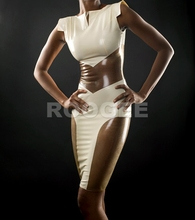 Noble rubber dress fancy real photo