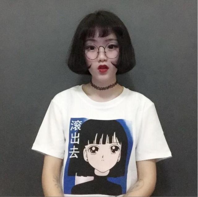 2017 Harajuku Women T Shirt Japanese Style Summer Cartoon Cute Girl Printed  Kwaii Student Short