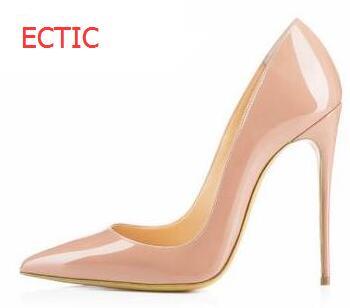 2018 брендовая обувь; женские туфли Высокие каблуки Насосы женская обувь на высоком каблуке 12 см вечерние свадебные туфли-лодочки черный из л...