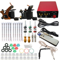 Professional tattoo kit 2 guns machines 3 ink sets power supply Complete Tattoo kits rotary tattoo kits guns machine cheap