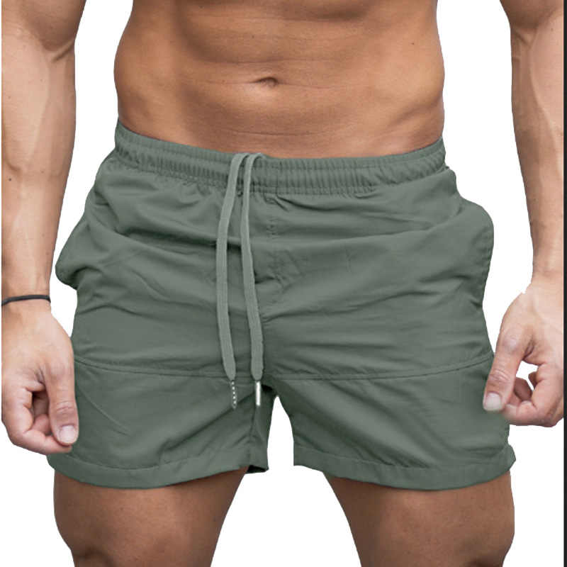 2a56863a27 ... 2018 Adjustable Men Beach Shorts Breathable Quick Dry Sport Brief Short  Summer Surf Fitness Gym Board ...