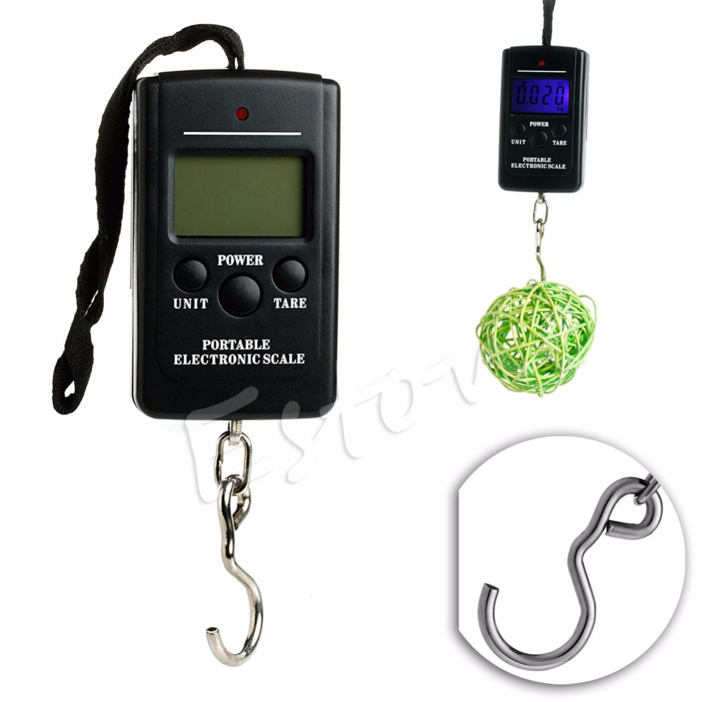 40kg 88lb 1410oz digital handy scales luggage fishing xy for Fish weighing scales