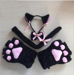 Image 5 - Neu Kommen Nette Sexy Kawaii Kitty Katze Stickerei Meow star Keyhole Hohl Bh Und Unterwäsche Liebe live Anime Cosplay Dessous set