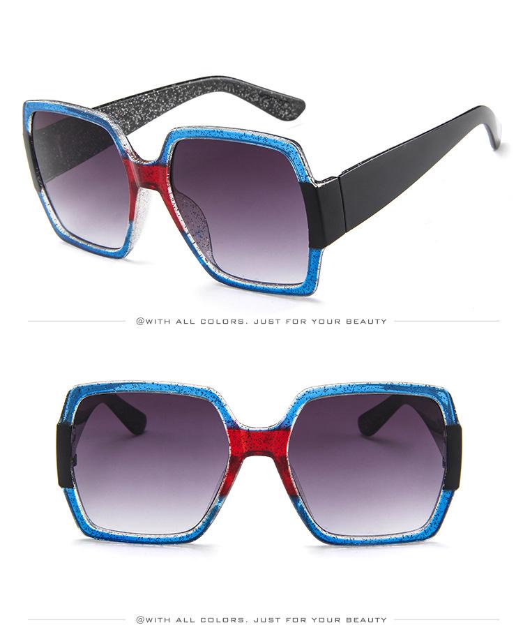 19 Oversized Sunglasses for Women Brand Designer Retro Sun glasses Red Green Shades Eyewear sunglasses woman 9